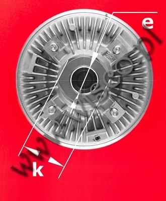 Sprzęgło wiskotyczne 226165A3 pasujące do ciągników rolniczych CASE IH serii MX 90, MX 100