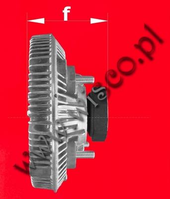 Sprzęgło wentylatora chłodnicy 30/926572 pasująca do koparko-ładowarek